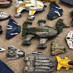 Download free STL file Alliance Crusader 2 Part (Elite Dangerous) • 3D printer template, Kahnindustries