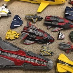 Download free STL file Federal Gunship 2 Part (Elite Dangerous) • 3D printable object, Kahnindustries