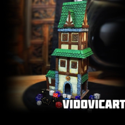 Medieval_DiceTower.png Download free STL file Medieval Dice Tower • 3D printable template, VidovicArts