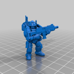 CE3_Standard4.png Download free STL file Halo Marine Standard Pose • 3D printing template, VidovicArts