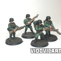 GermanStandards.png Télécharger fichier STL gratuit Infanterie allemande de la Seconde Guerre mondiale 28mm (pose standard) • Objet à imprimer en 3D, VidovicArts