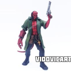 Hellboy.png Download free STL file Hellboy (With Jacket) • 3D print template, VidovicArts