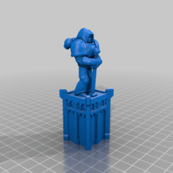 CE3_Spacemarine_Statue_Monument.png Download free STL file Space Marine Statue (40k Terrain) • 3D printing design, VidovicArts
