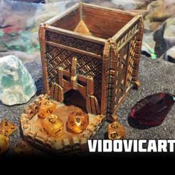 dwarftower.png Télécharger fichier STL gratuit Tour de dés naine • Modèle pour imprimante 3D, VidovicArts