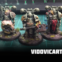 Plague_Marines.png Download free STL file Infested Space Soldiers • 3D printer template, VidovicArts
