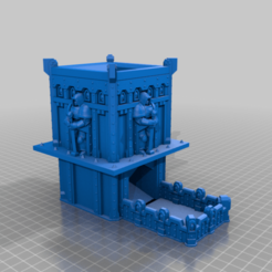 CE3_4Marine_Tower_lowpoly.png Download free STL file Space Marine Dice Tower (READ DESCRIPTION) • Object to 3D print, VidovicArts