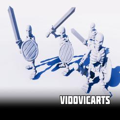 skellies.png Télécharger fichier STL gratuit Guerrier squelette • Modèle pour imprimante 3D, VidovicArts