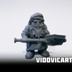 2handedaxe.png Download free STL file Dwarf With Two Handed Axe • 3D print model, VidovicArts