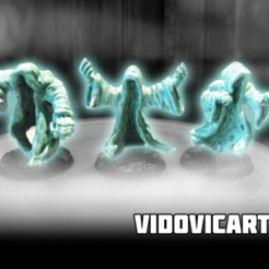 Wraiths.png Download free STL file Undead Ghostly Wraiths • 3D printer model, VidovicArts