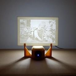 Télécharger STL gratuit Support LED pour votre propre photo lithophane, Der_Stihl