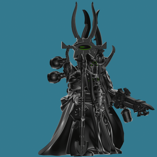 Download free STL file Ahriman - Without disc - Arch-Sorcerer of Tzeentch • 3D printing design, Sumbu