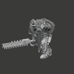 Télécharger fichier STL gratuit Version Chainsword & Boltpistol de la Légion du Traître, constructeur de marines • Design imprimable en 3D, Sumbu