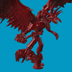 Imprimir en 3D gratis Príncipe Demonio - Mil Hijos - Tzeentch, Sumbu