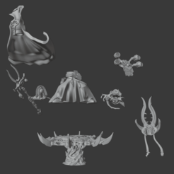Download free 3D printing files Parts of a All is Dust unnamed Sorcerer, Sumbu
