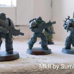 Descargar archivos STL gratis Marines espaciales blindados con patrón de hierro de los cruzados, Sumbu
