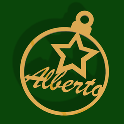 BolaAlbertoStar.png Download STL file Christmas tree ball with star Albert • 3D printable template, dryant