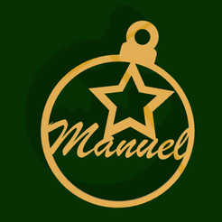 BolaManuelStar.png Download STL file Christmas tree ball with Emmanuel star • 3D printer template, dryant