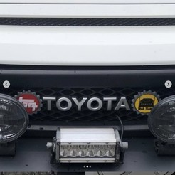 Download 3D printing templates tag logo for toyota, grblmm