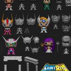 Download free 3D printer model Saint Seiya Funko Style, archivosstl3d
