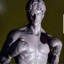 Download free STL file Rocky Balboa • Design to 3D print, archivosstl3d