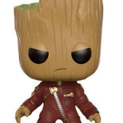 Download free 3D printing templates Angry Groot Funko style, archivosstl3d