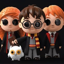 Download free STL file Harry Potter Chibi, archivosstl3d