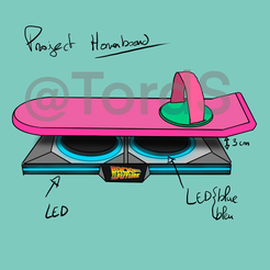 Download STL files Hoverboard Project Back to the Future, TordS