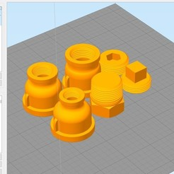 Download 3D printing designs Steampunk Reducer and Plug 3-4 inch, rikkieBKK