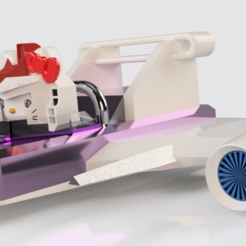 kitty glider v15.png Download STL file Hello Kitty Sky Glider • Object to 3D print, rikkieBKK