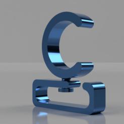 curtain hanger clip 1 inch pvc pipe v1.png Download STL file Curtain hanger clip • 3D printable model, rikkieBKK