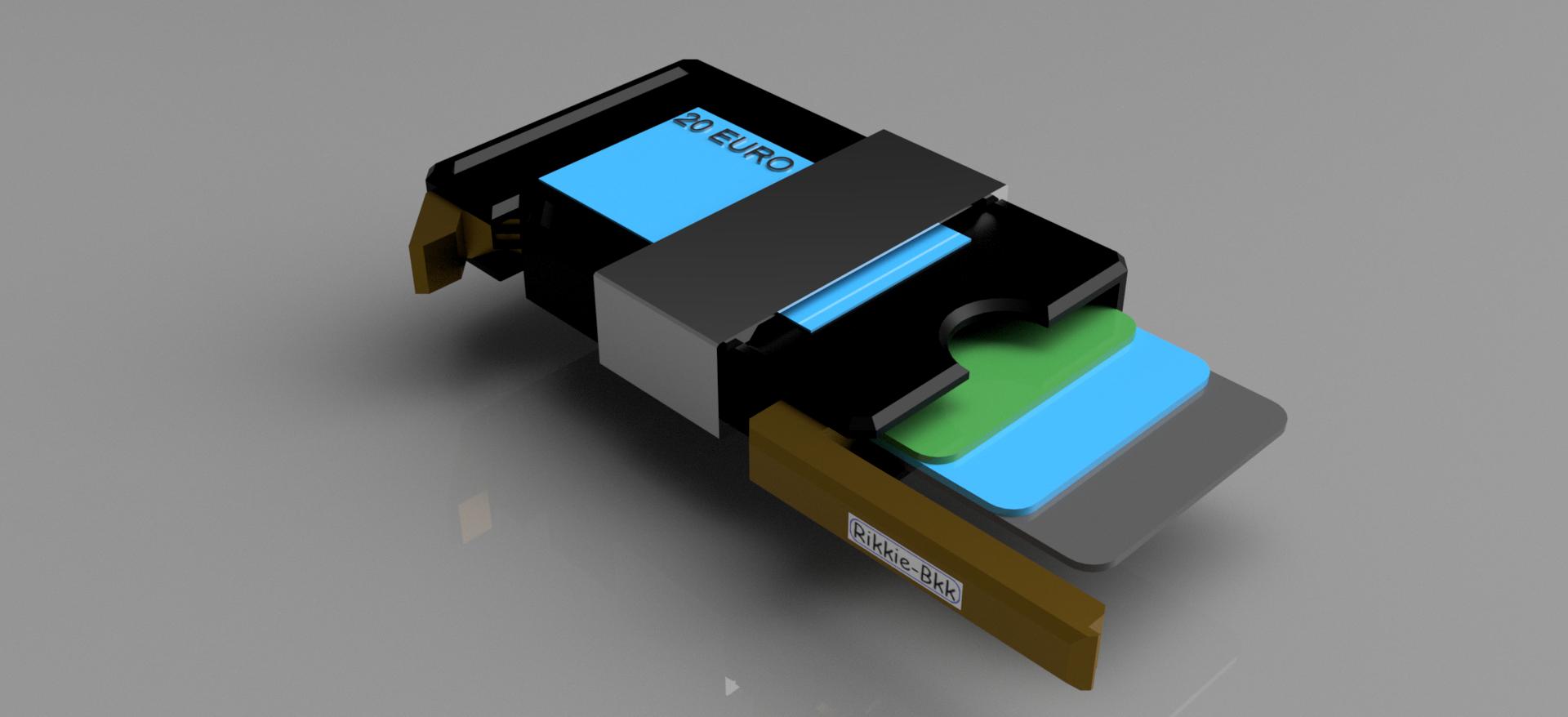 wallet 3.png Download STL file Slim Wallet with money clip • 3D print template, rikkieBKK