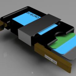 wallet 3.png Télécharger fichier STL Portefeuille mince avec pince à billets • Objet pour impression 3D, rikkieBKK