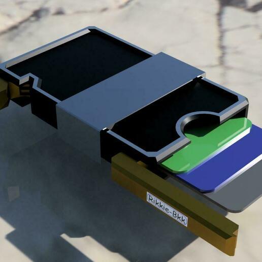wallet 2.jpg Download STL file Slim Wallet with money clip • 3D print template, rikkieBKK