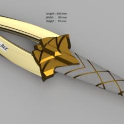 Download 3D printing templates league of legends akali dagger, rikkieBKK