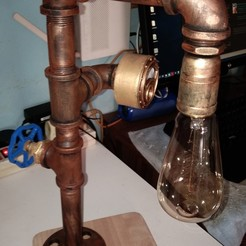 Download STL files Steampunk desk lamp, rikkieBKK