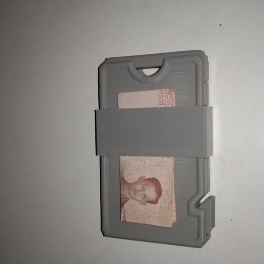 Télécharger fichier STL Portefeuille mince avec pince à billets • Objet pour impression 3D, rikkieBKK