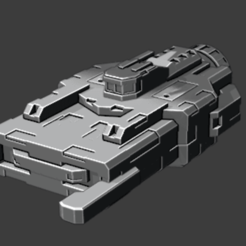 2020-08-16_1.png Download free STL file Comet class Frigate • 3D printable design, Smight