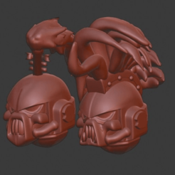 2019-07-31_1.png Download free OBJ file Heavy Metal Band Helms • 3D printing model, Smight