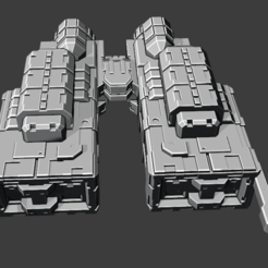 2020-08-12_7.png Download free STL file Pulsar class Destroyer • 3D print template, Smight