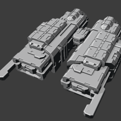 2020-08-14.png Download free STL file Quasar class Destroyer • 3D print model, Smight