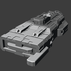 2020-08-16.png Download free STL file Asteroid class Corvette • Design to 3D print, Smight