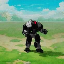 brigand.jpg Download free STL file robot pirate • 3D printing design, Smight