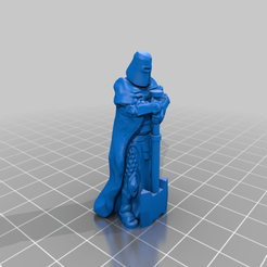 Download free 3D printer templates Knight with axe, Smight