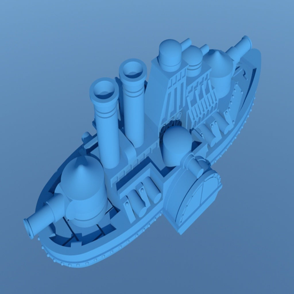 large_display_IronCladFinished4.jpg Download free STL file Updated! Shorty Iron Wave • 3D print model, barnEbiss2