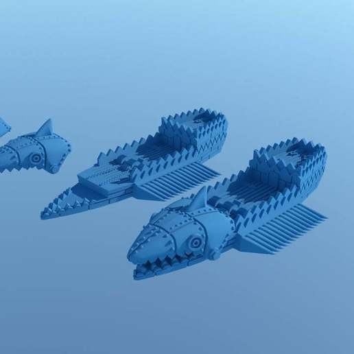 Ironsharkreadyforprinting2.jpg Download free STL file UPDATED! GONAM Metal Fish for MOW • 3D print design, barnEbiss2