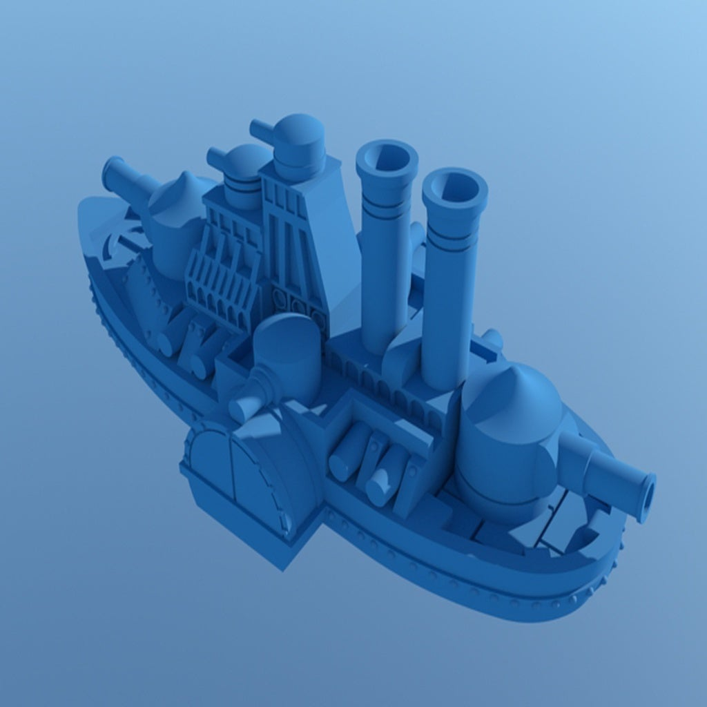 large_display_IronCladFinished5.jpg Download free STL file Updated! Shorty Iron Wave • 3D print model, barnEbiss2