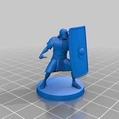 """07d1c8bb9025a698d01e972c3a41d35e_display_large.jpg Télécharger fichier STL gratuit Aperçu du soldat romain 28mm """"Still Work in progress"""" en avant-première • Design pour imprimante 3D, barnEbiss2"""