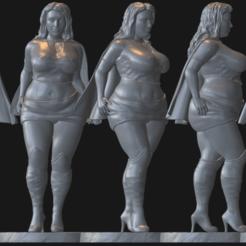 Télécharger fichier STL Superwoman • Modèle pour imprimante 3D, poju73