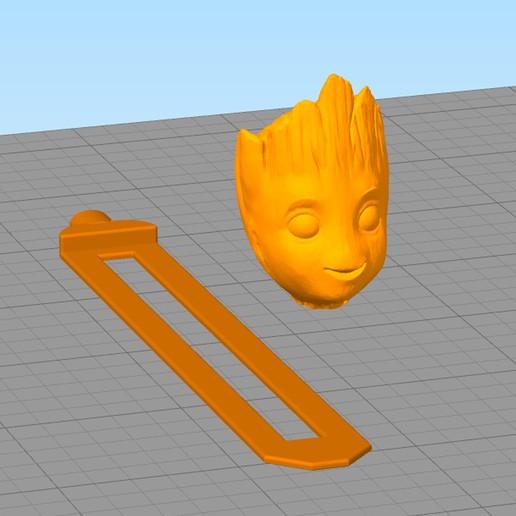 separador12.jpg Download free STL file Groot Book Separator • 3D printing design, gothamstorecol