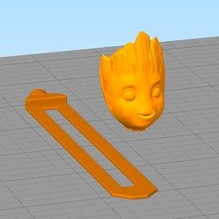 separador12.jpg Download free STL file Groot Book Separator • 3D printing design, gothamstorecol